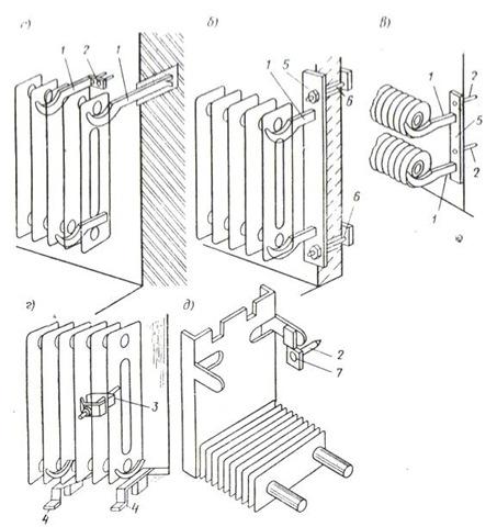 Крепление чугунных радиаторов к полу своими руками 72